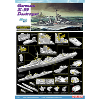 Dragon 1/700 German Z-39 Destroyer - Smart Kit DR 7103