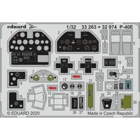 Eduard 33263 1/32 P-40E Photo etched parts