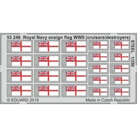 Eduard 53246 1/350 Royal Navy ensign flag WWII (cruisers/ destroyers) STEEL Photo etched parts