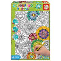 Educa 300pce Doodle Art - Big Beautiful Blossoms 23 Puzzle 17090