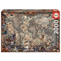 Educa 2000pce Pirates Map Puzzle 18008