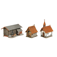 Faller HO Bakehouse- Chapel And Utility Shed Set