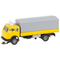 Faller HO MB SK Flatbed Truck with Tarpaulin for Faller Car System