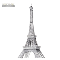 Metal Earth Iconix Eiffel Tower Etched Metal kit