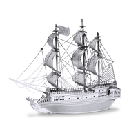 Metal Earth Black Pearl Pirate Ship Metal Puzzle Kit