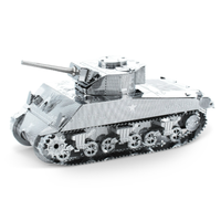 Metal Earth Sherman Tank Metal Puzzle Kit