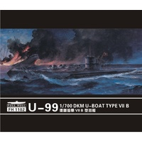 Flyhawk 1/700 U-boat Type VII B DKM U-99 (2set) FH1102 Plastic Model Kit