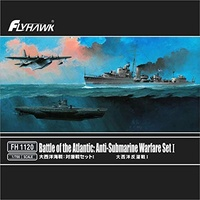 Flyhawk 1/700 Battle of the Atlantic: Anti-Submarine Warfare Set I(Include Royal Navy J-class destroyer,Short sunderland patrol aircraf, German U-boat