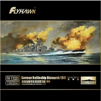 Flyhawk 1/700 German Battle ship Bismarck 1941(Deluxe Edition) FH1132S Plastic Model Kit
