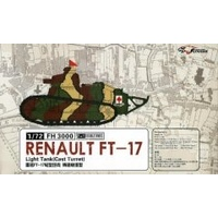 Flyhawk 1/72 Renault FT-17 Light Tank(Cast Turret)