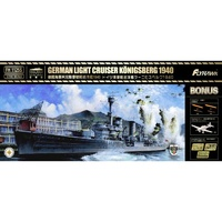 Flyhawk 1/700 German Light Cruiser Konigsberg 1940 (Deluxe Edition)