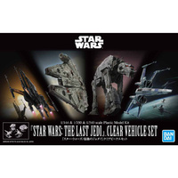 Bandai 1/144 & 1/350 & 1/540 Star Wars The Last Jedi Clear Vehicle Set