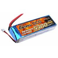 Gens Ace 5300mAh 30C 7.4V Soft Case Lipo Battery (Deans Plug)