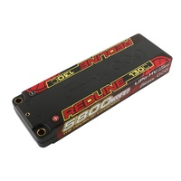 Gens Ace REDLINE 5800mAh 130C 7.4V #56 Hardcase Battery (5.0mm Bullet)