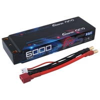 Gens Ace 6000mAh 100C HV 7.6 Hard Case Lipo Battery (Deans Plug) ROAR