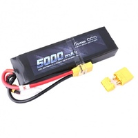 Gens Ace 5000mAh 50C 11.1V LiPo Battery XT90 Plug (Long Pack)