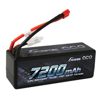 Gens Ace 7200mAh 70C 14.8V Hard Case Battery (Deans Plug)