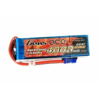 Gens Ace 4000mAh 60C 22.2V Soft Case Battery (EC5 Plug)
