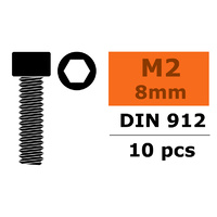 G-Force Socket Head Screw M2x8 Steel (10PCS) GF-0100-001