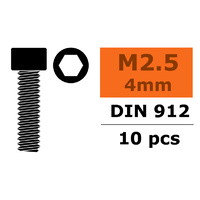 G-Force Socket Head Screw M2 5x4 Steel (10PCS) GF-0100-007