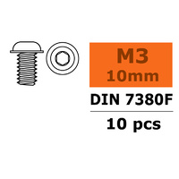G-Force Socket Low Round Flanged Head Screw M3x10 Steel GF-0104-003