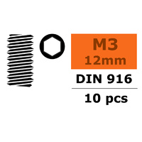 G-Force Set Screw M3x12 Steel (10pcs) GF-0105-005