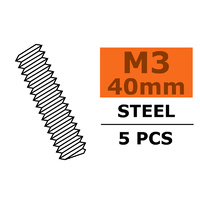 G-Force Tie Rod M3x40 Steel (5pcs) GF-0160-003