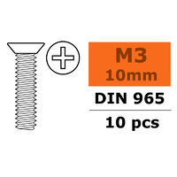G-Force Countersunk Screw M3x10 Galvanised Steel (10pcs) GF-0171-003