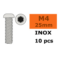 G-Force Socket Low Round Head M4x25 Inox (10pcs) GF-0203-014