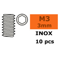 G-Force Set Screw M3x3 Inox (10pcs) GF-0205-001