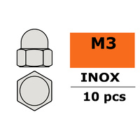 G-Force Closed Round Head Nut M3 Inox (10pcs) GF-0253-001