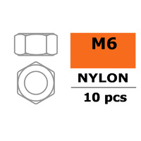 G-Force Nut M6 Nylon (10pcs) GF-0300-004