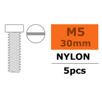G-Force Pan Head Screw M5x30 Nylon (5pcs) GF-0310-013