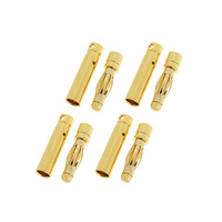 G-Force 4mm Gold Connector Male + Female (4pairs) GF-1000-003