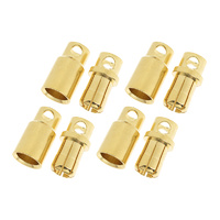 G-Force 8mm Gold Connector Male + Female (4pairs) GF-1000-008