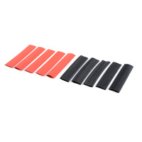 G-Force Shrink Tubing 9.5mm Red and Black (10pcs) GF-1460-005