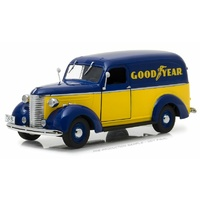 Greenlight 1/24 Goodyear Tyres 1939 Chevy Panel Truck Running on Empty 18243 Diecast