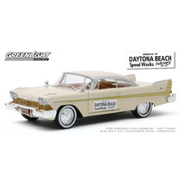 Greenlight 1/24 Daytona Beach Speed Weeks Feb 3-17 1957 Plymouth Fury Diecast Car