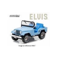 Greenlight 1/18 Elvis Presley Jeep CJ-5 Sierra Blue Movie Artisan Collection 19061 Diecast