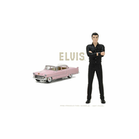 Greenlight 1/64 Elvis Presley (1935-77) - 1955 Cadillac Fleetwood Series 60 Pink Cadillac with 1/18 Elvis Figure