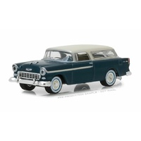 Greenlight 1/64 1955 Chevy Nomad Glacier Blue and Shoreline Blue Estate Wagons Series 1 (SIN 29910-A Diecast