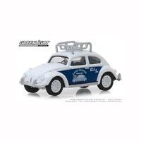 Greenlight 1/64 Classic VW Beetle w/Roof Rack Flat Four Specialists Busted Knuckle Garage Se 39010-F Diecast