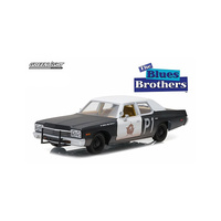 Greenlight 1/24 1974 Dodge Monaco Blues Mobile Blues Brothers Movie 84011 Diecast