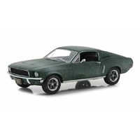 Greenlight 1/24 Unrestored 1968 Ford Mustang GT Fastback-2018 Detroit Auto Show Steve McQuee 84043 Diecast