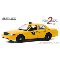 Greenlight 1/24 John Wick 2 2008 Ford Crown Victoria Taxi