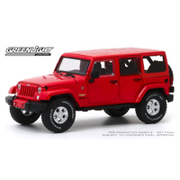 Greenlight 1/43 Firecracker Red 2017 Jeep Wrangler Unlimited Sahara