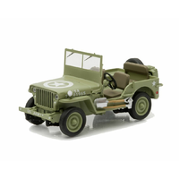 Greenlight 1/43 1944 Jeep C7 (Army Green w/Star on Hood) 86307 Diecast