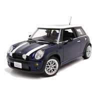 Greenlight 1/43 Blue w/White Stripes The Italian Job (2003) 2003 Mini Cooper S Movie 86546 Diecast