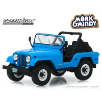 Greenlight 1/43 Mork Mindy (1978-82 TV Series) 1972 Jeep CJ-5 Movie Diecast Car