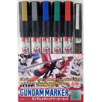 Gunze Mr. Color Gundam Metallic Marker Set